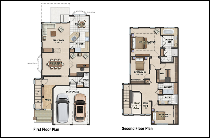 Color 2d graphics floor plans - Colorful house plans ...