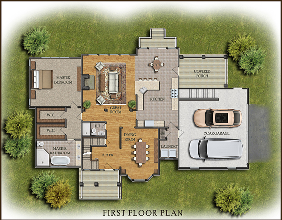 Color 2d Graphics Floor Plans